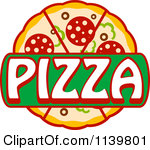 Pizza logo clipart jpg black and white library Clipart of a Pizza Logo 3 - Royalty Free Vector Clipart by Vector ... jpg black and white library