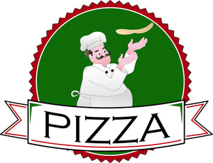 Pizza logo clipart vector library download Pizza Clipart Image - Pizza Chef Tossing Pizza Dough in a Pizza ... vector library download