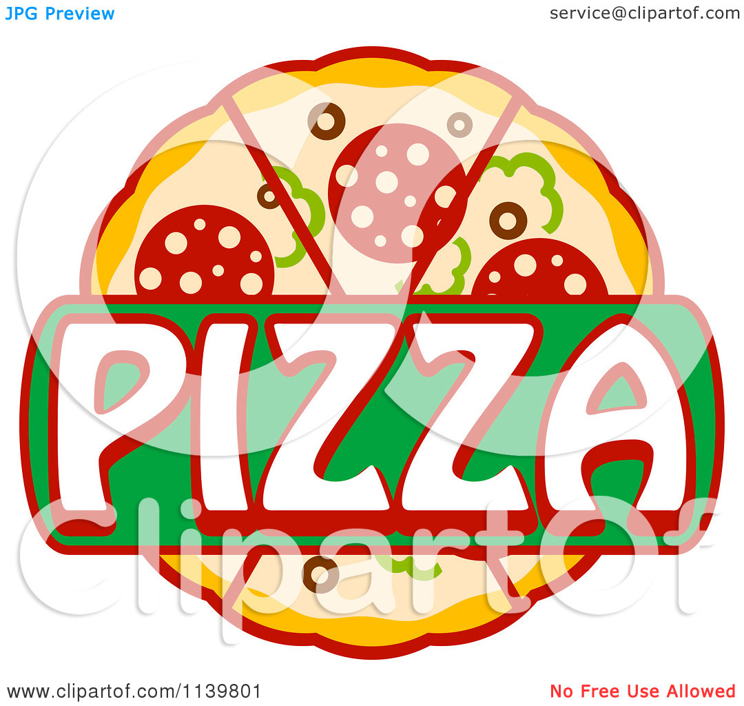 Pizza logo clipart clip download Clipart Of A Pizza Pie Logo 1 - Royalty Free Vector Illustration ... clip download