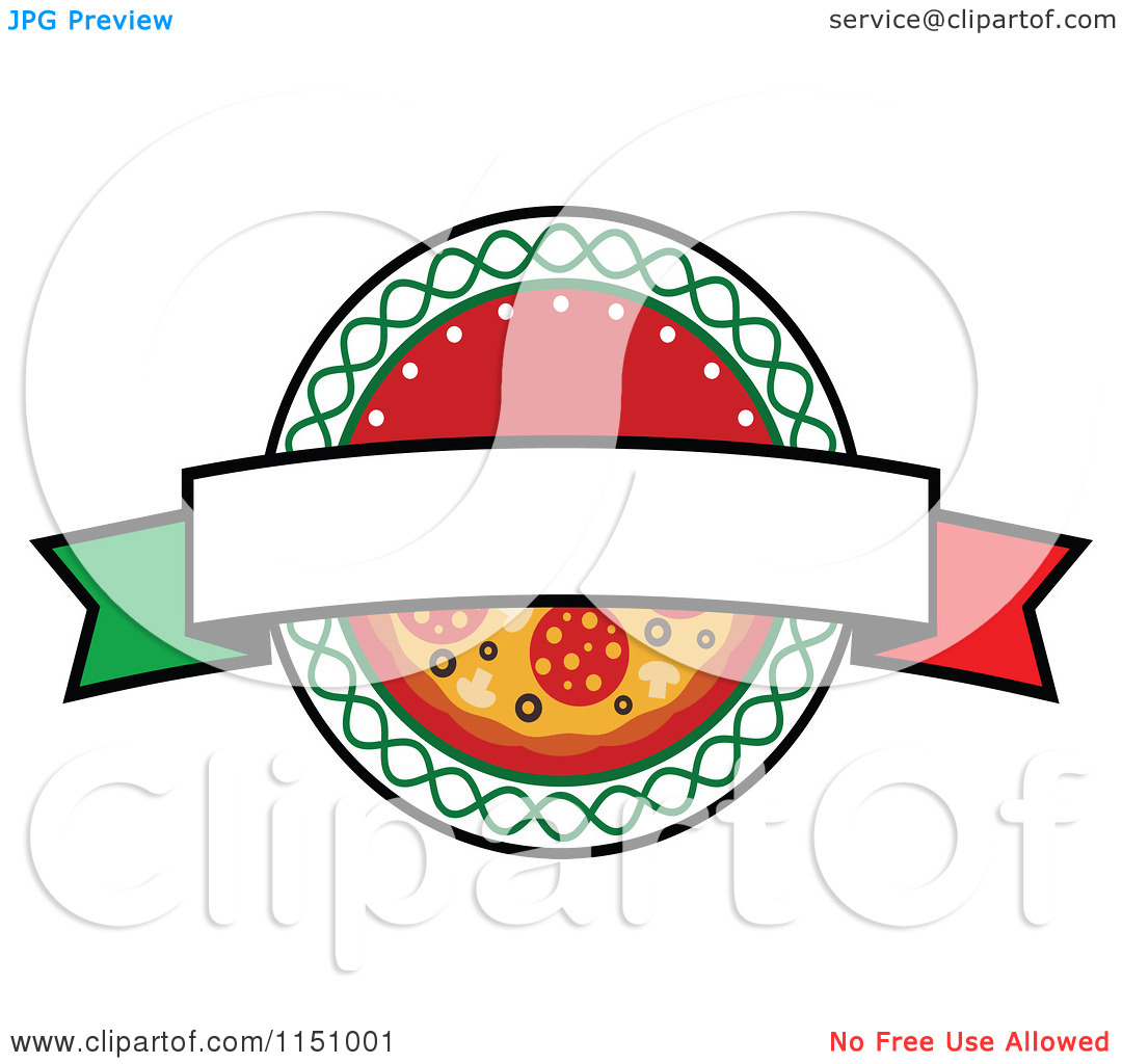 Pizza logo clipart svg royalty free library Clipart of a Pizza Logo 3 - Royalty Free Vector Clipart by Vector ... svg royalty free library