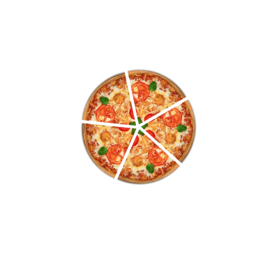 Pizza with radius of 5 and a half clipart image library library Pizza Slices • Teacher Guide image library library