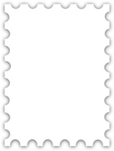 Place stamp here clipart image library download Blank Postage Stamp Template Dedicated To Susi Tekunan By ... image library download