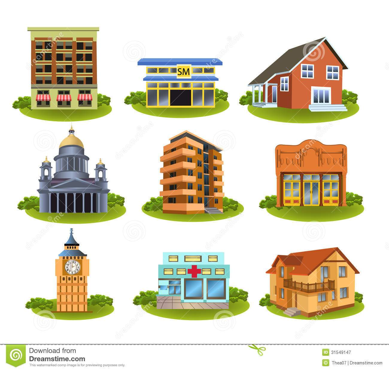 Pictures of different community places clipart 5 » Clipart ... clipart freeuse download