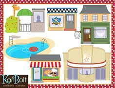 Buildings 2 and Places Clip-Art | community | Clip art, Art ... banner free download
