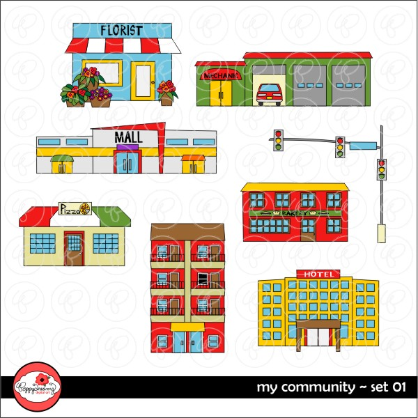 Places in the community clipart image library download Places in the community clipart 8 » Clipart Station image library download