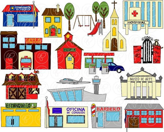 Places in the community clipart