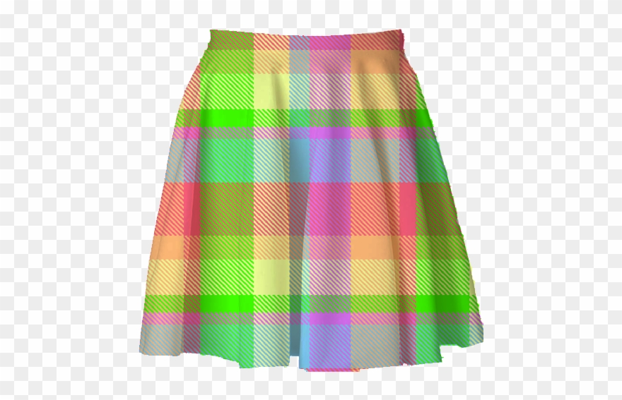 Plaid skirt clipart svg stock Rainbow Plaid Skirt Trash Queen - Miniskirt Clipart ... svg stock