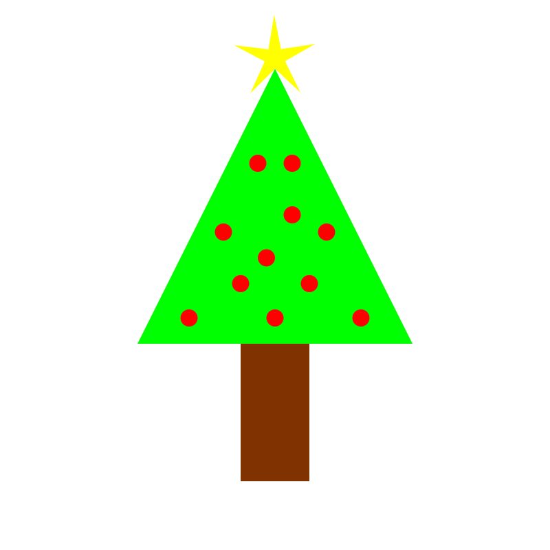 Plain christmas tree clipart picture free stock Christmas Tree | Free Stock Photo | Illustration of a decorated ... picture free stock