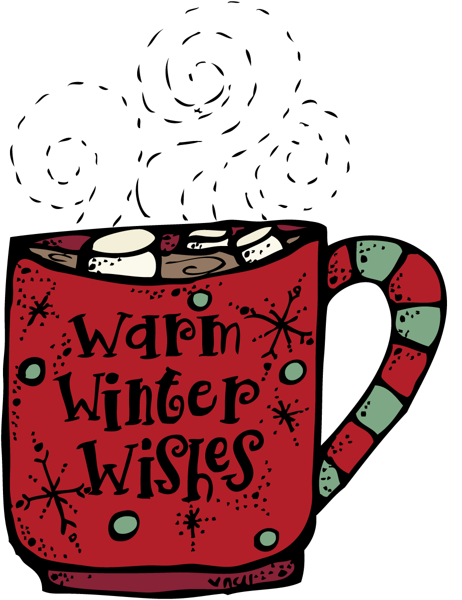 Plain red hot cocoa mug clipart free jpg black and white stock Mrs. Bremer\'s Kindergarten: Winter Freebies | Holiday Ideas ... jpg black and white stock
