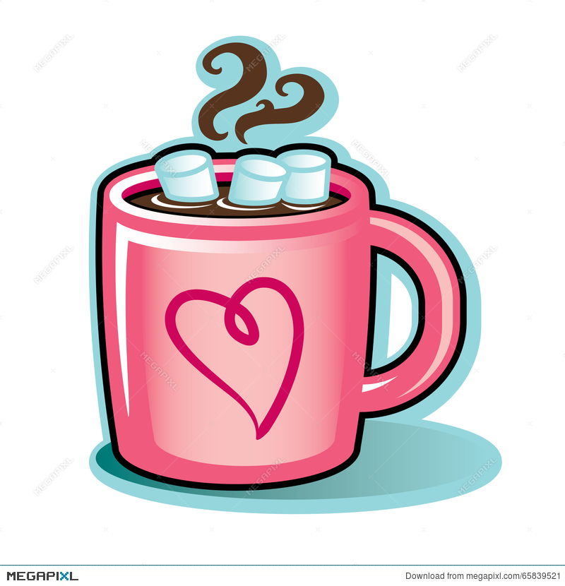 Plain red hot cocoa mug clipart free image royalty free Valentine Heart Mug With Hot Cocoa Chocolate And ... image royalty free