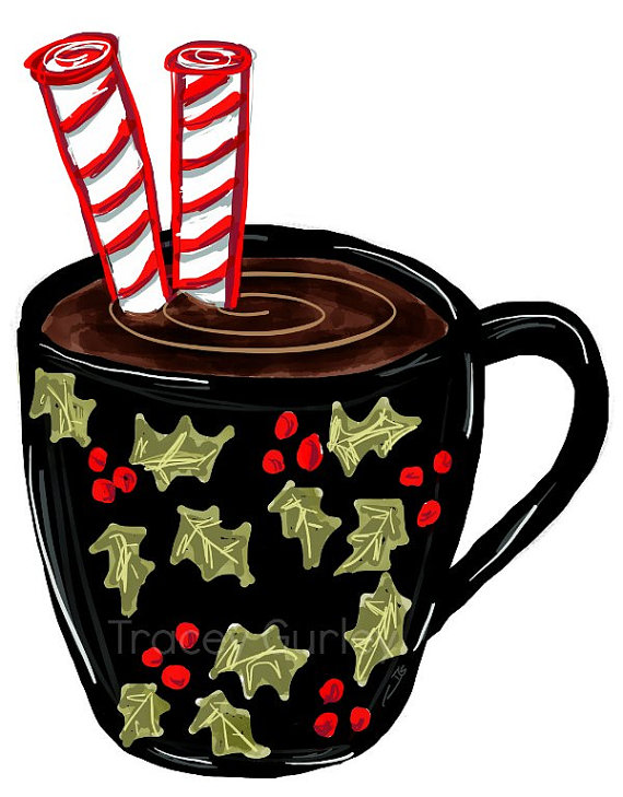 Plain red hot cocoa mug clipart free graphic black and white library Collection of Hot chocolate clipart | Free download best Hot ... graphic black and white library