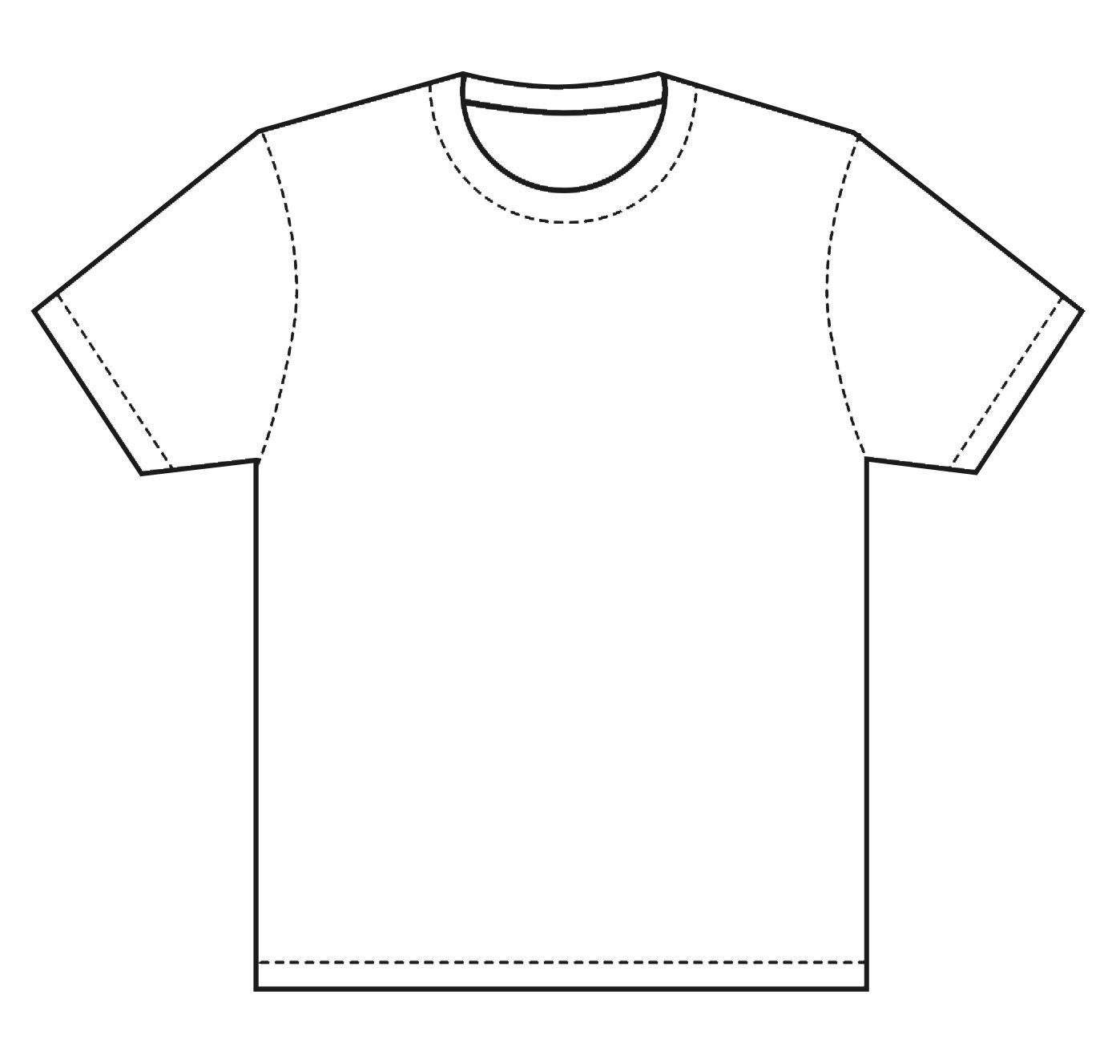 Plain white t shirt clipart freeuse stock T-Shirt Template | Design T Shirt Template, this is great ... freeuse stock