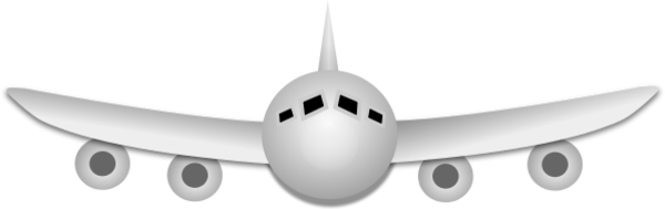 Plane clipart front freeuse library Airplane Front View - vector Clip Art freeuse library