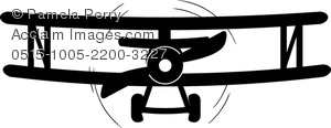 Plane clipart front png library stock Clip Art Image of a Bi Plane Coloring Page - Acclaim Stock Photography png library stock