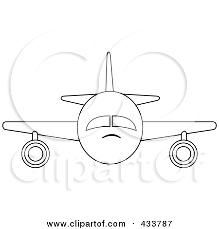 Plane clipart front vector freeuse download Royalty-Free (RF) Passenger Plane Clipart, Illustrations, Vector ... vector freeuse download