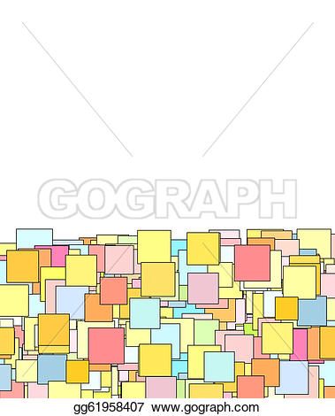 Plane clipart square svg freeuse library Stock Illustration - Abstract composition with candy color square ... svg freeuse library