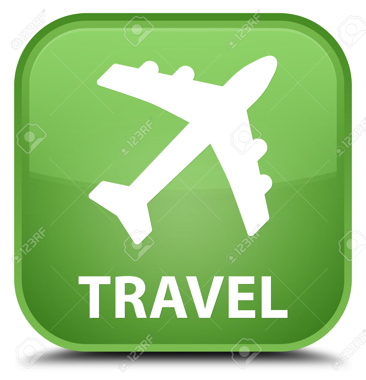 Plane clipart square jpg royalty free stock Travel (plane Icon) Soft Green Square Button Stock Photo, Picture ... jpg royalty free stock