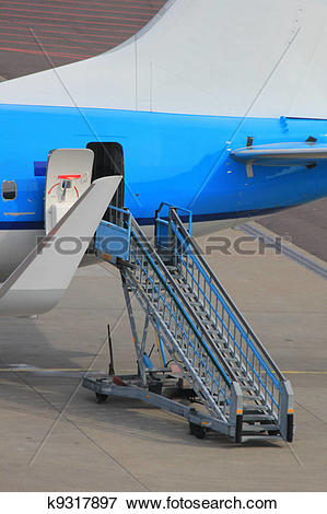 Plane gates clipart jpg library download Picture of Rear exit of plane on gate k9317897 - Search Stock ... jpg library download
