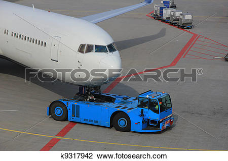 Plane gates clipart graphic free stock Stock Photo of Plane pushed back from the gate k9317942 - Search ... graphic free stock
