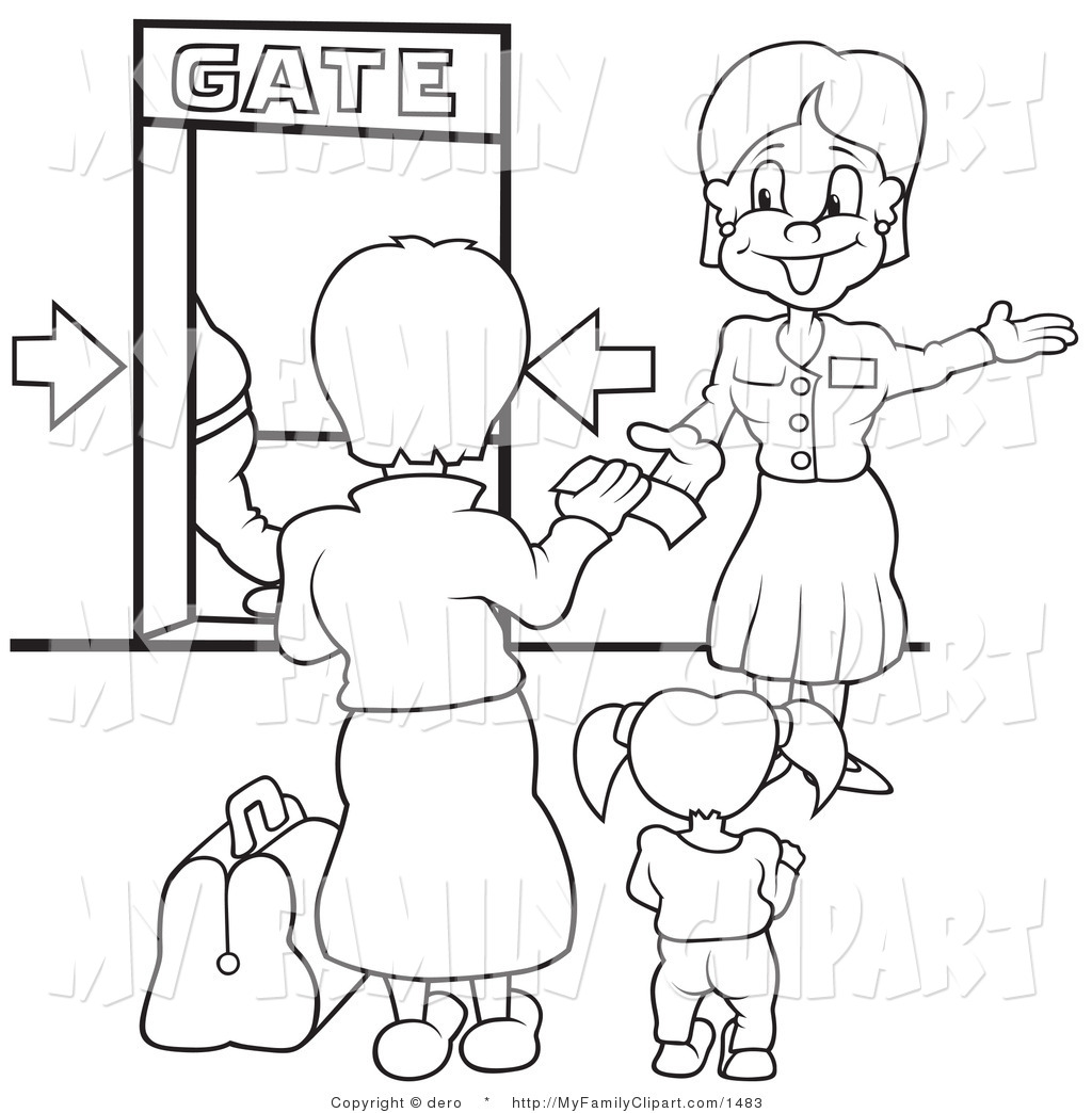 Plane gates clipart graphic free library Airport gate clipart - ClipartFest graphic free library