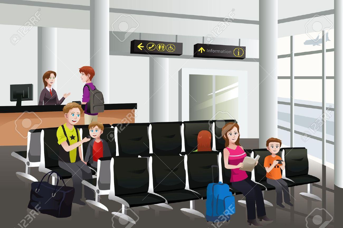 Plane gates clipart vector library Waitting for the plane clipart - ClipartFest vector library