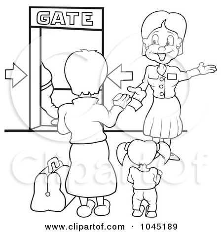 Plane gates clipart vector library Royalty Free Flight Illustrations by dero Page 1 vector library