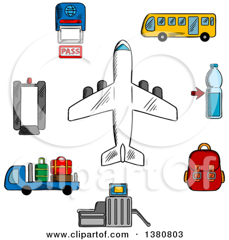 Plane gates clipart graphic royalty free stock Clipart Of A Black Silhouetted Airplane And Curved Trail - Royalty ... graphic royalty free stock