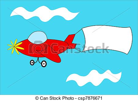 Plane pulling sign clipart image black and white stock Clipart of Red airplane pulls blank banner - A cartoon airplane ... image black and white stock