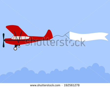 Plane pulling sign clipart svg free Airplane Banner Stock Images, Royalty-Free Images & Vectors ... svg free