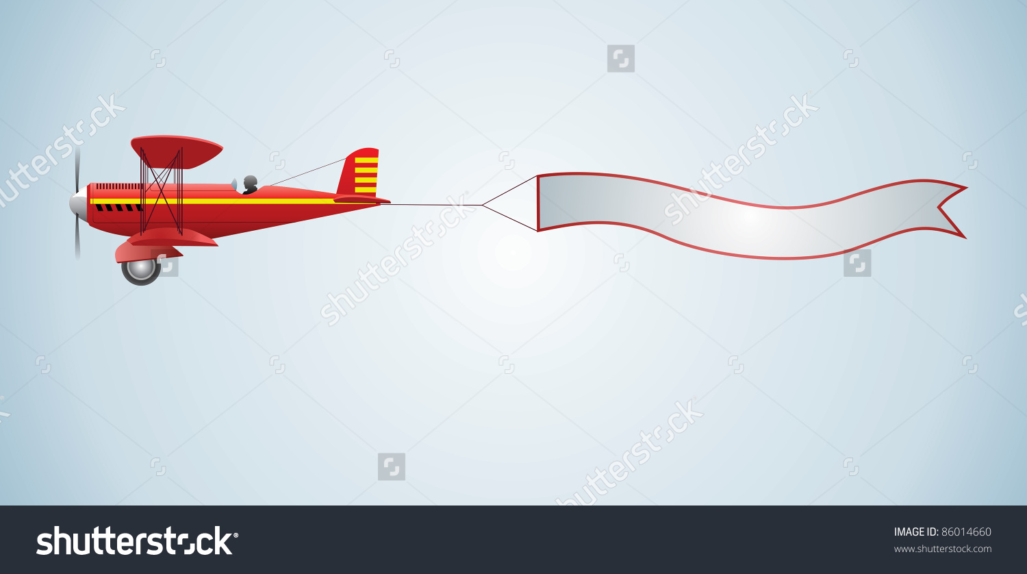 Plane pulling sign clipart black and white download Airplane towing a banner clipart for logo - ClipartFest black and white download