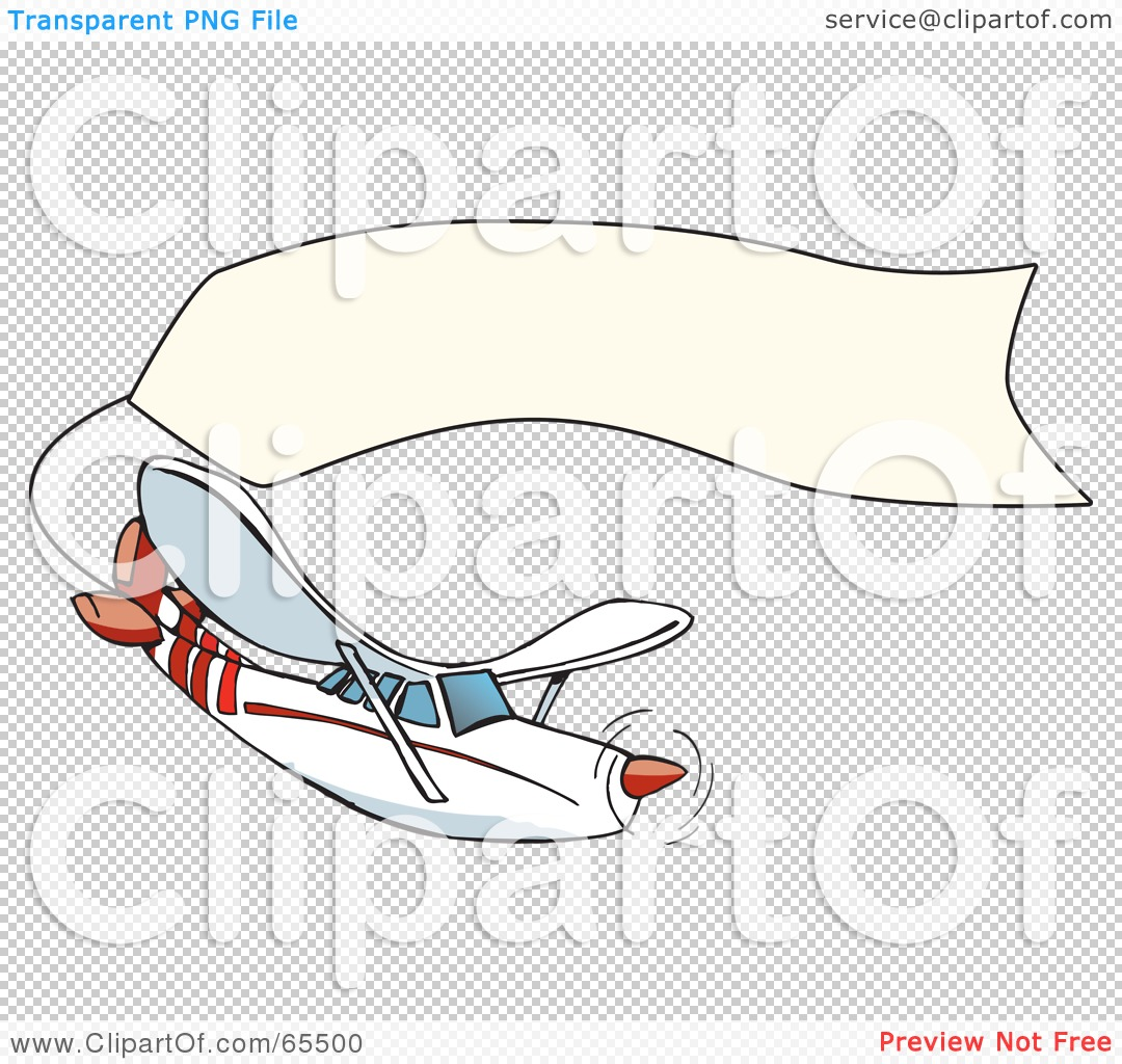 Plane pulling sign clipart vector free library Royalty-Free (RF) Clipart Illustration of a White And Red Airplane ... vector free library