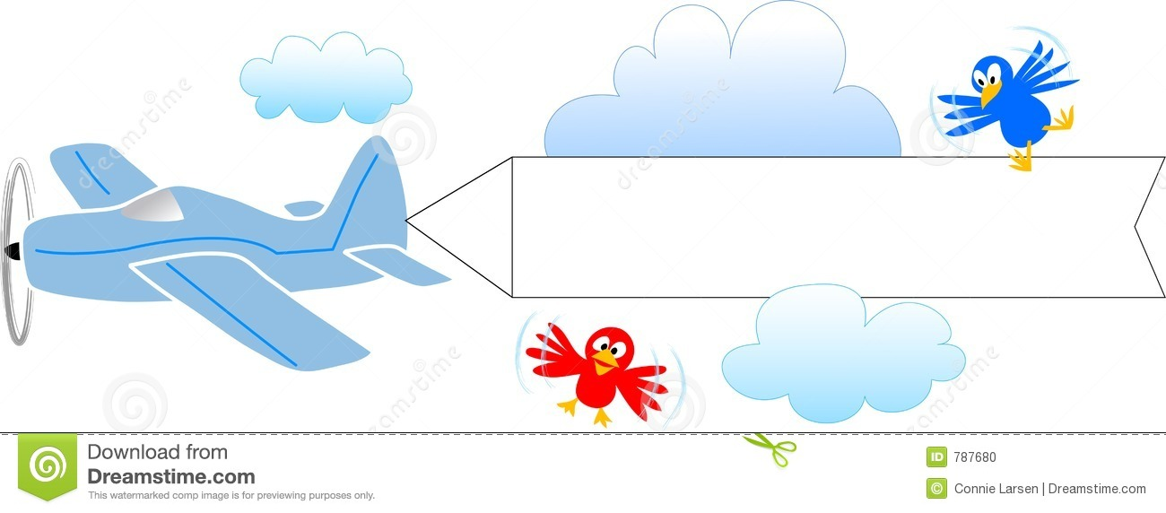 Plane pulling sign clipart picture black and white download Airplane With Banner Clipart & Airplane With Banner Clip Art ... picture black and white download