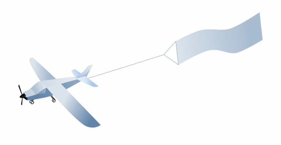 Plane with banner clipart banner freeuse library Plane With Banner Png - Flying Banner Plane Clipart Free PNG ... banner freeuse library