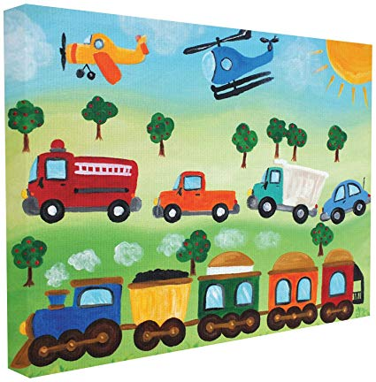 Planes trains and automobiles clipart image black and white library The Kids Room by Stupell Planes, Trains, and Automobiles Wall Plaque 30 x 40 image black and white library