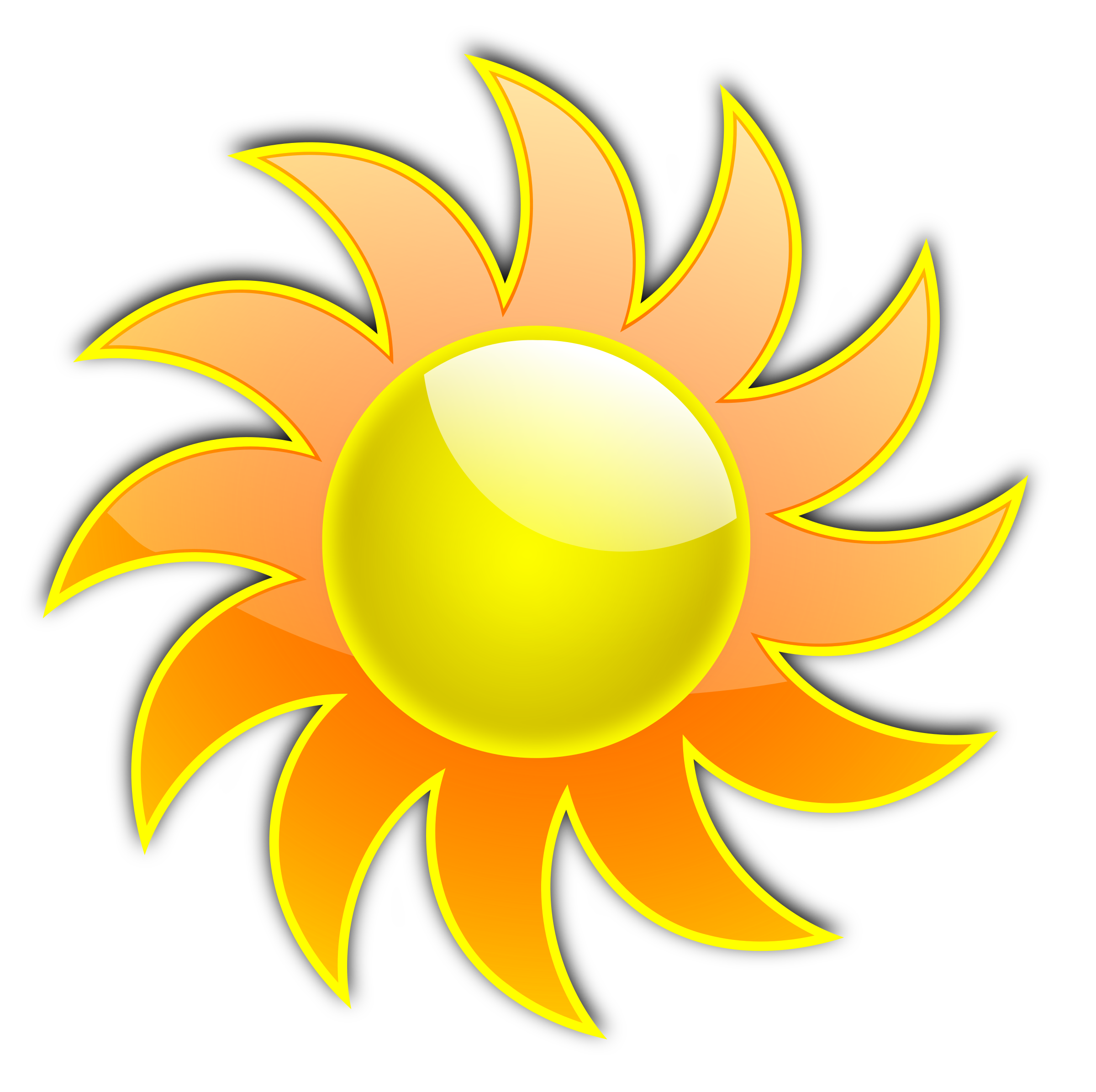 Sun and plant clipart picture library stock Clipart - sum 04 picture library stock