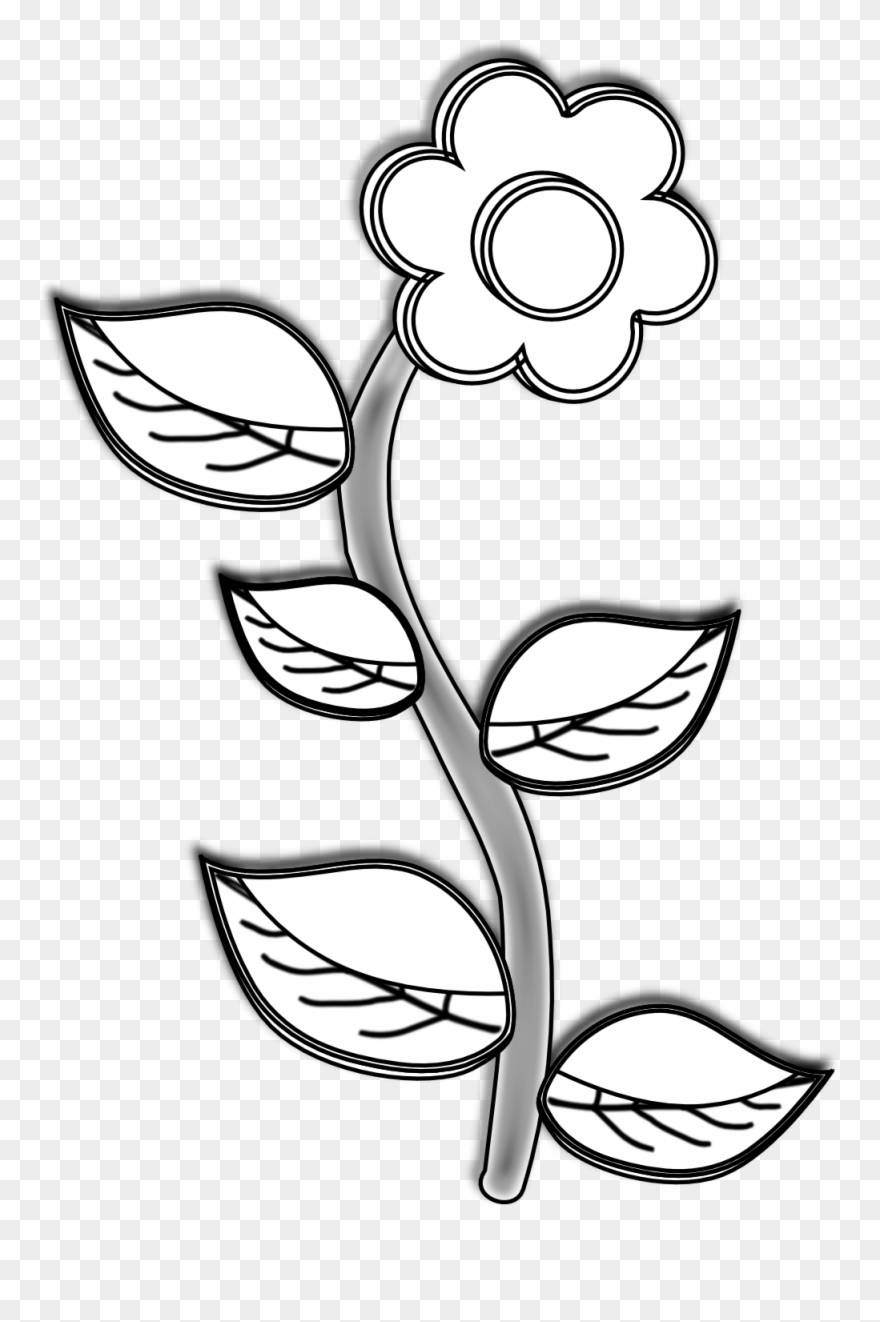 Plant black and white clipart free download Simple Clipart Black And White - Plant Black And White ... free download