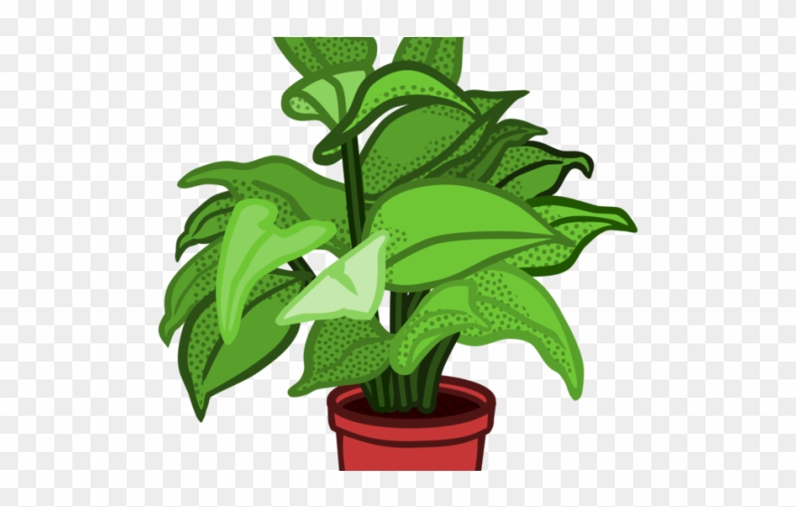 Plant images clipart black and white stock Pot Plant Clipart Stem Plant - Png Download (#2801577 ... black and white stock