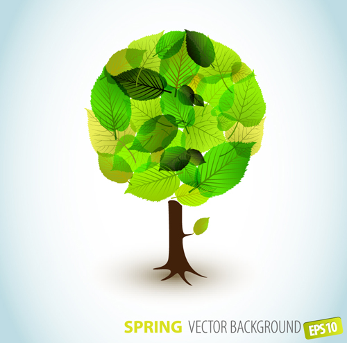 Plant images free download png library library Different Spring tree elements vector 02 - Vector Plant free download png library library