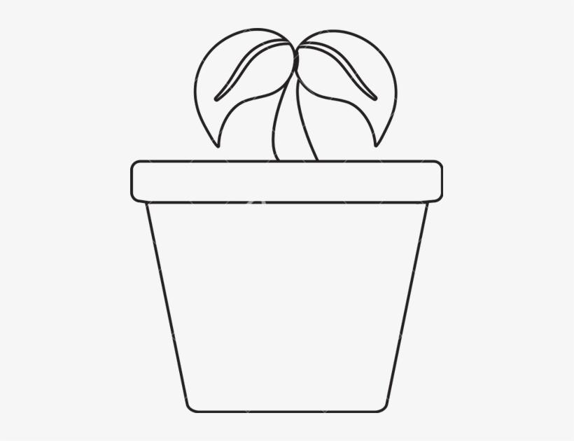 Plant in a pot clipart black and white free download Drawn Pot Plant Transparent - Pot Clipart Black And White ... free download