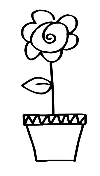 Word pot clipart image library download Flower Pot Clipart Black And White   Free download best ... image library download