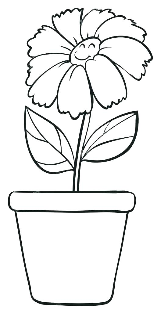 Plant in a pot clipart black and white picture royalty free library Plant Pot Sketch at PaintingValley.com   Explore collection ... picture royalty free library