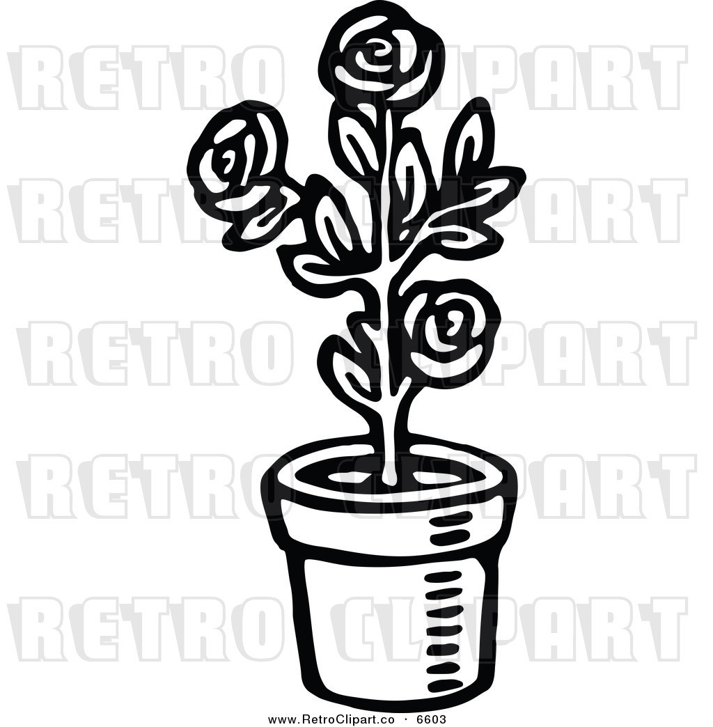 Plant in a pot clipart black and white jpg black and white stock Plant pot clipart black and white 1 » Clipart Portal jpg black and white stock