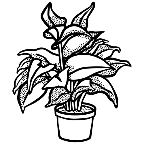 Plant in a pot clipart black and white jpg freeuse Potted plant symbol   Public domain vectors jpg freeuse