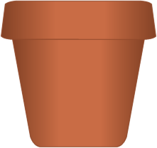Plant pots clipart svg stock Flower pots clip art clipart images gallery for free ... svg stock