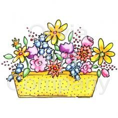 Window boxes clipart
