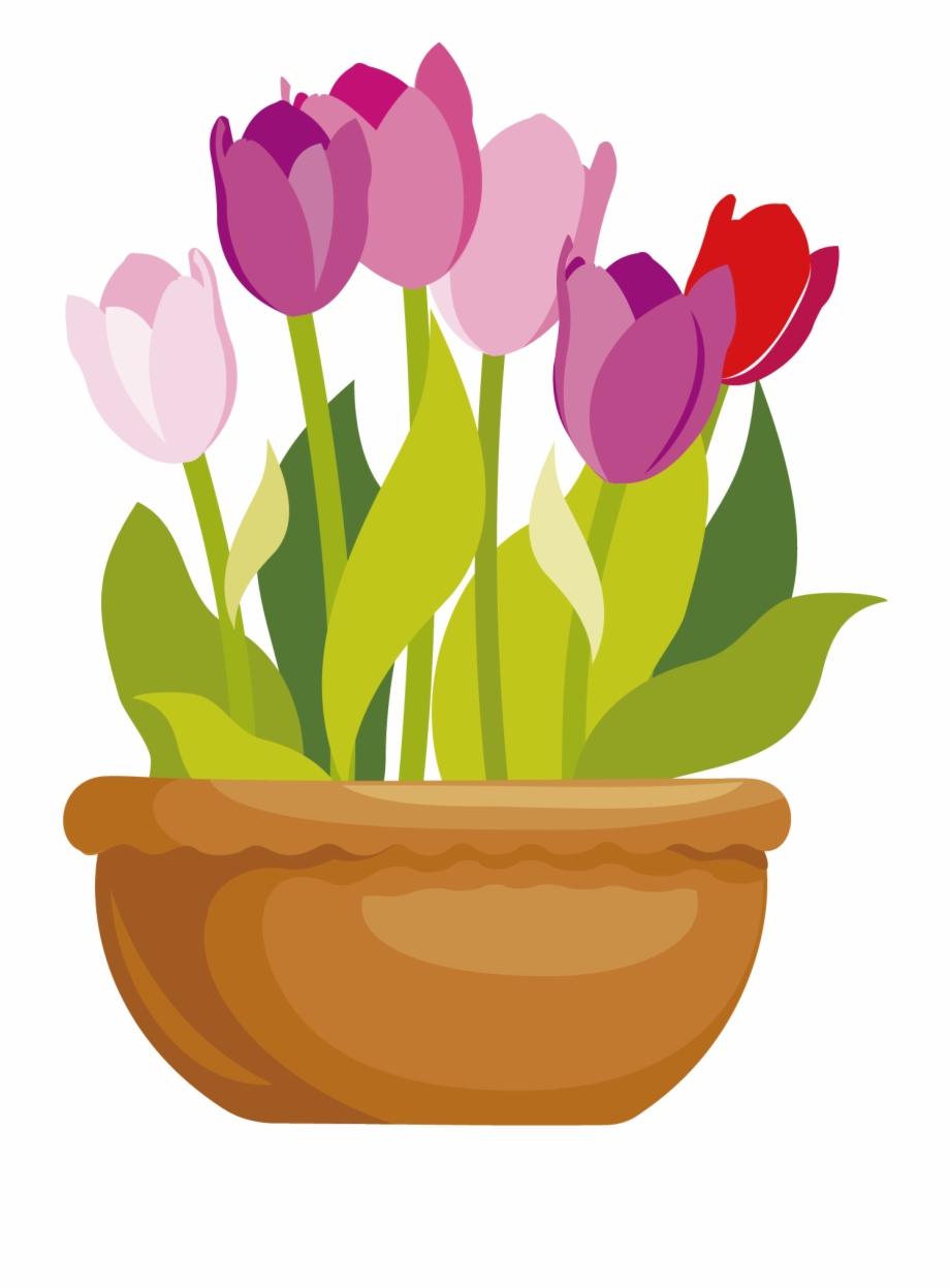 Planters clipart clipart royalty free download Flowerpots Clipart Pink - Flower Pot Cartoon Png Free PNG ... clipart royalty free download