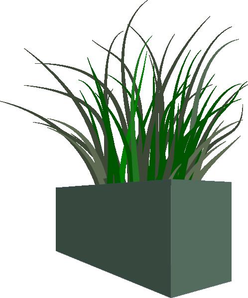 Planters clipart clip art freeuse Grass In Square Planter Clip Art at Clker.com - vector clip ... clip art freeuse