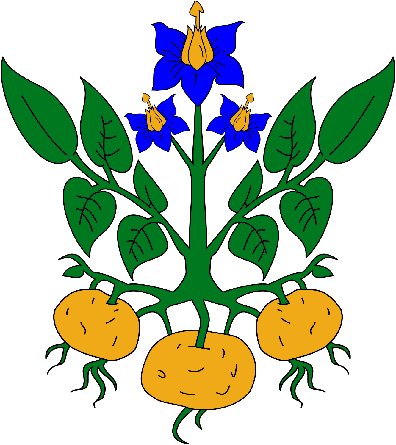 Heraldic free download clip. Flower plant clipart