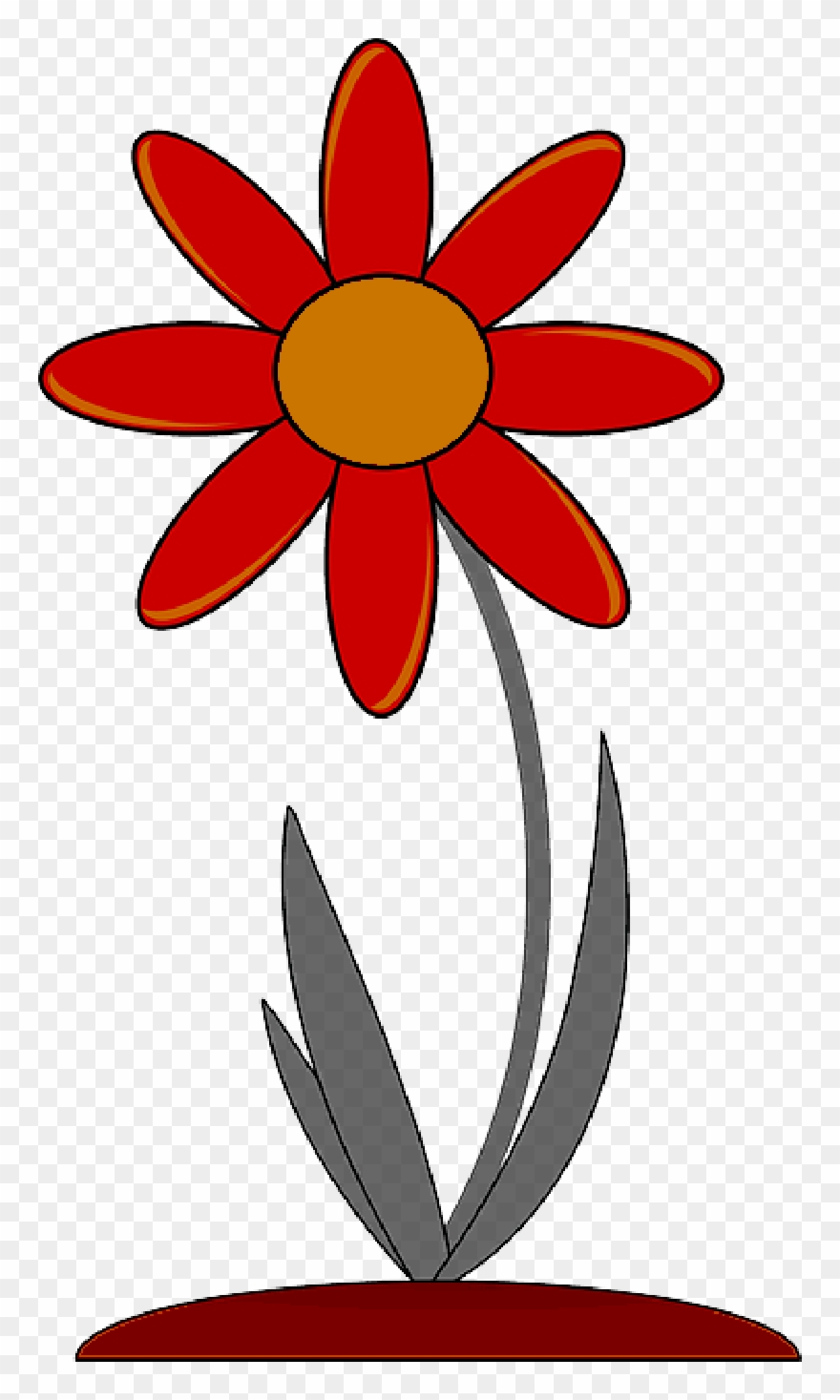 Plants flowers clipart jpg freeuse download Red, Outline, Drawing, Plants, Flower, Flowers, Cartoon ... jpg freeuse download