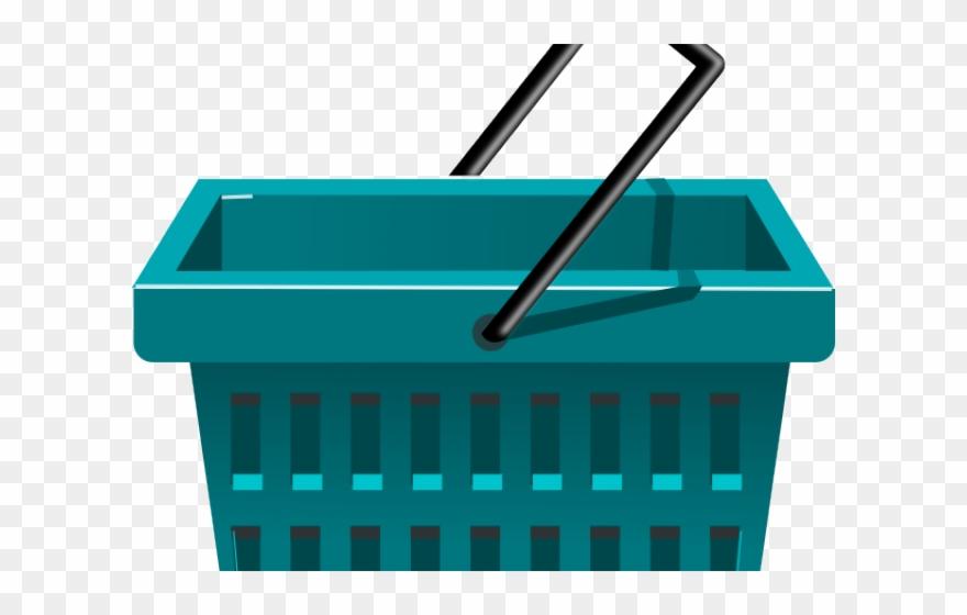Plastic basket clipart jpg transparent Basket Clipart Bascket - Clipart Grocery Cart - Png Download ... jpg transparent